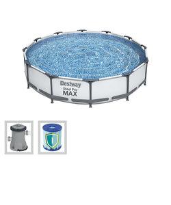 Steel Pro Max 366x76 cm + filterpomp