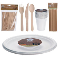 BBQ barbecue servies pakket (no plastic)