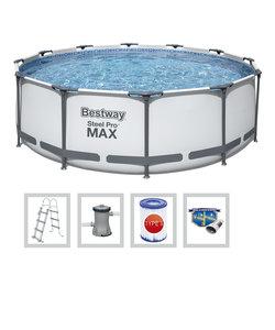 Steel Pro Max 366x100 cm + filterpomp