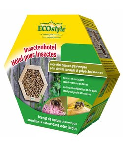 Insectenhotel voor wilde bijen en graafwespen (honingraat)