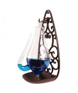 Barometer Donderglas met gietijzer houder