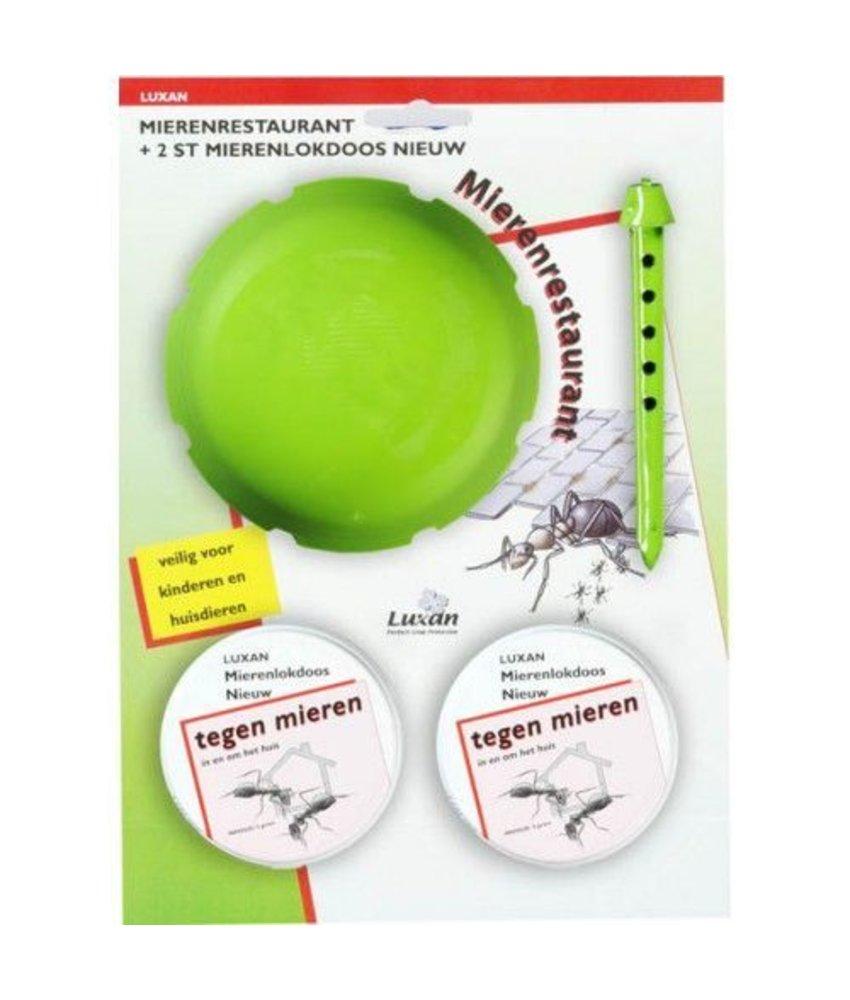 Luxan Mierenrestaurant + 2 stuks mierenlokdoos nieuw