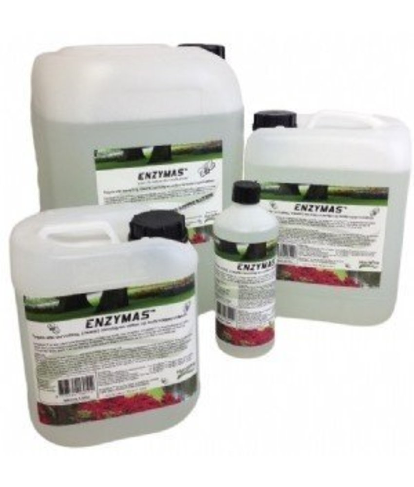 HortiPro EnzyMas 20 liter tegen alle vervuiling, (zwarte) aanslag en vetten op buitenoppervlakken.