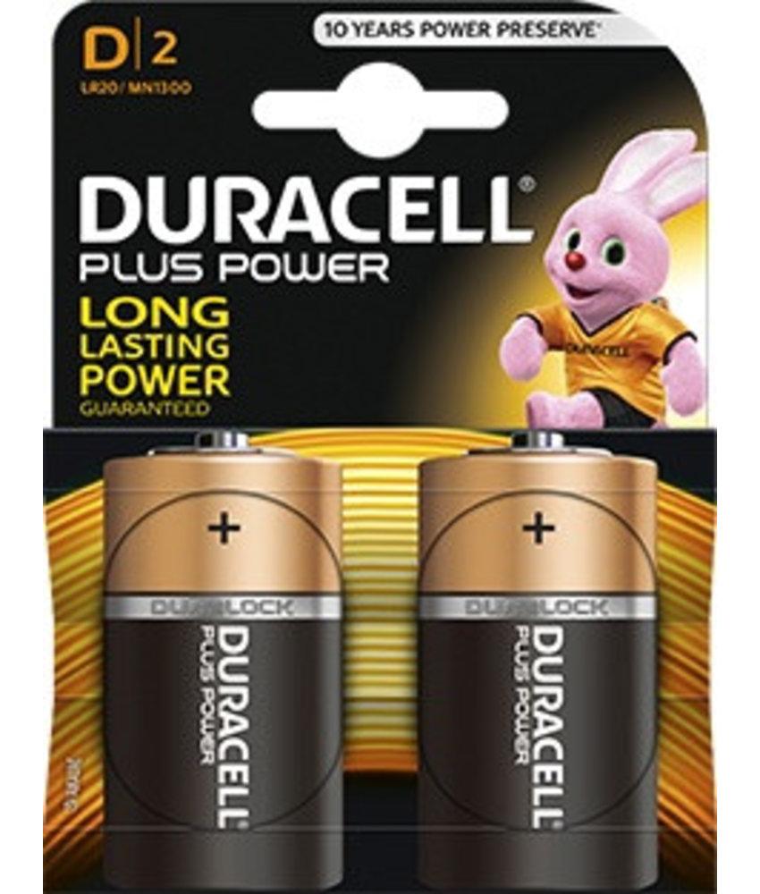 Duracell batterijen type D (2 stuks)