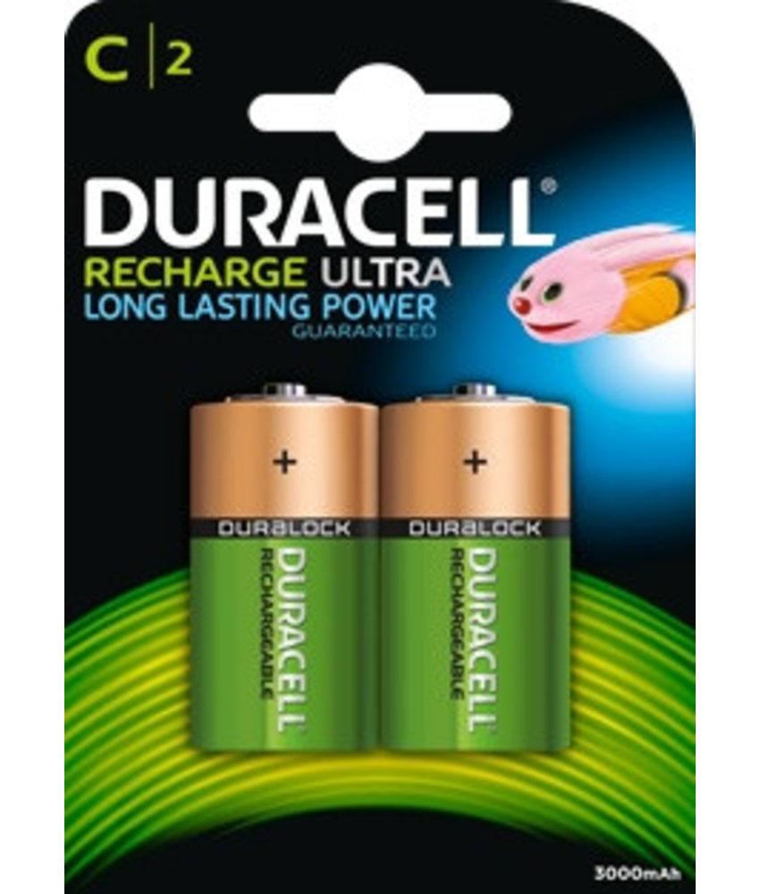Duracell batterijen oplaadbaar type C (2 stuks)