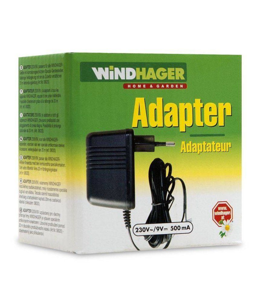 Windhager Adapter 220/9V voor apparaten