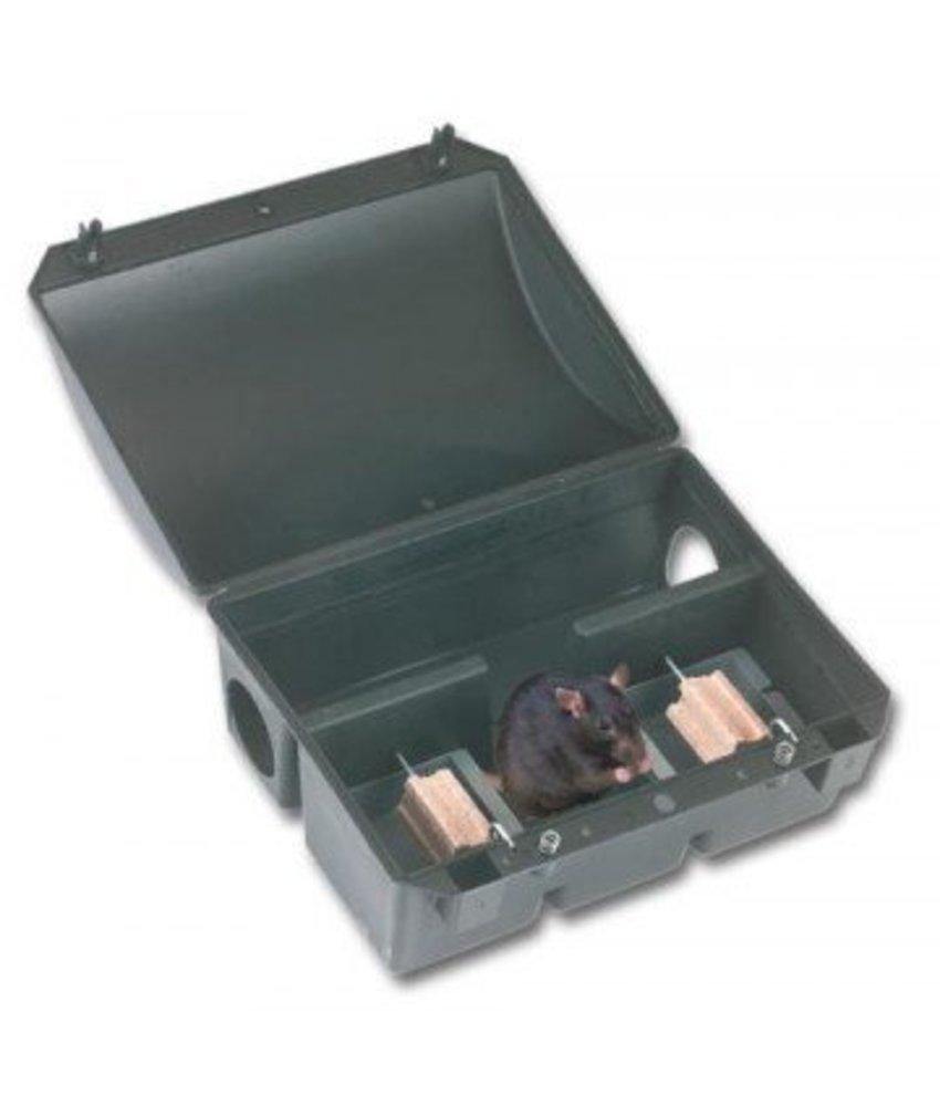 Kerbl Rattenvoerdoos met sleutel MW