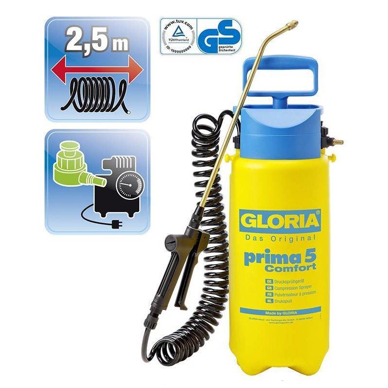 Gloria drukspuit Prima 5 Comfort (5 liter)