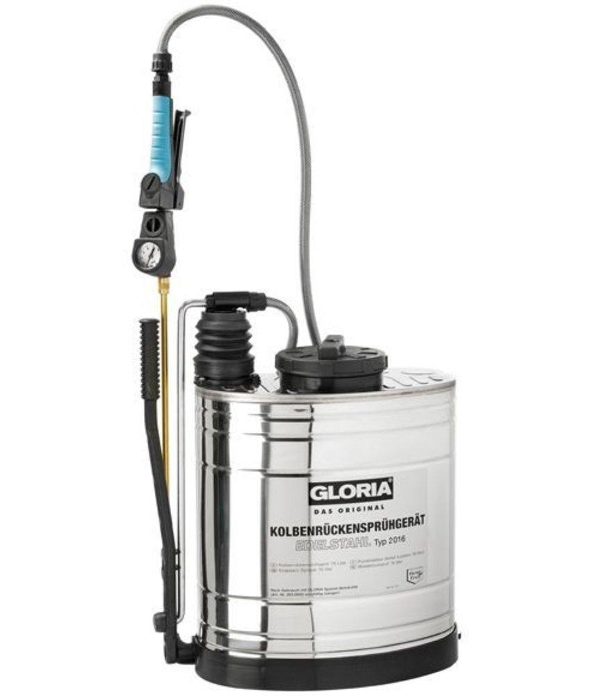 Gloria rugspuit roestvrijstaal 2016 (16 liter)