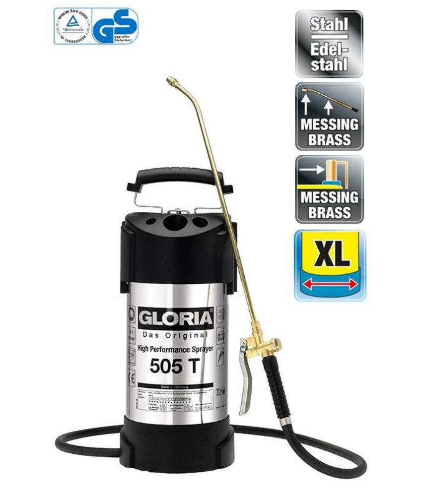 Gloria hogedrukspuit RVS 6 bar 505T (5 liter)
