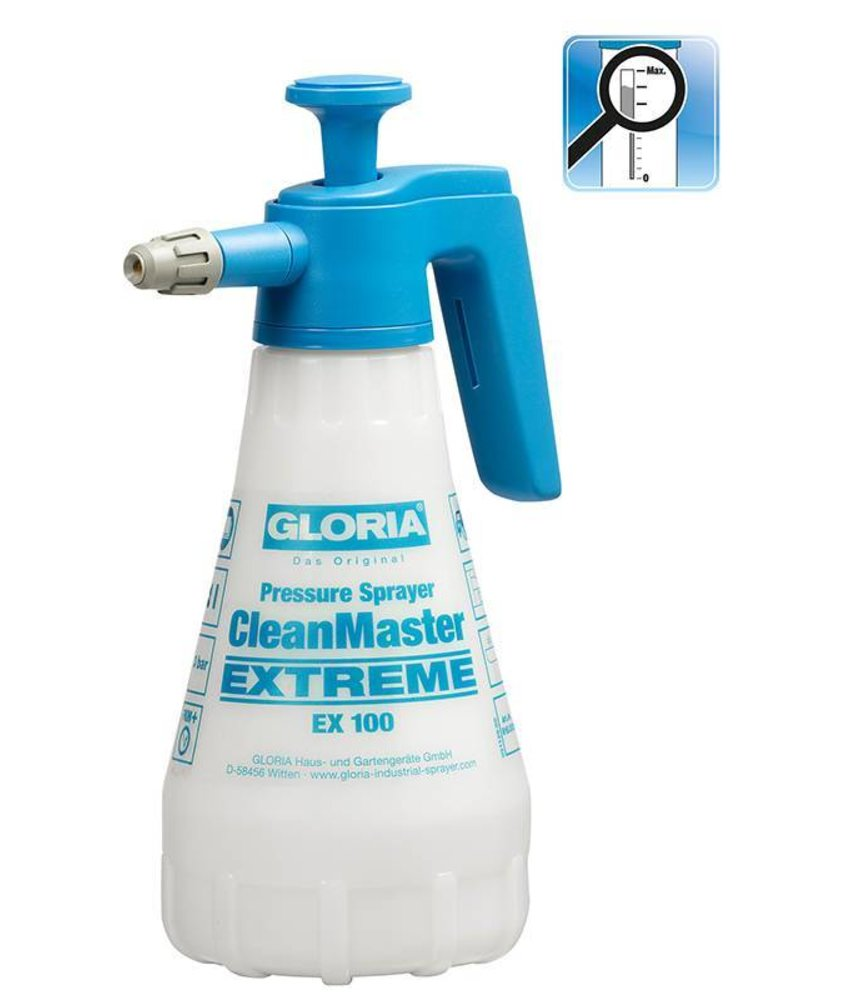 Gloria drukspuit CleanMaster Extreme EX100 (1 liter)