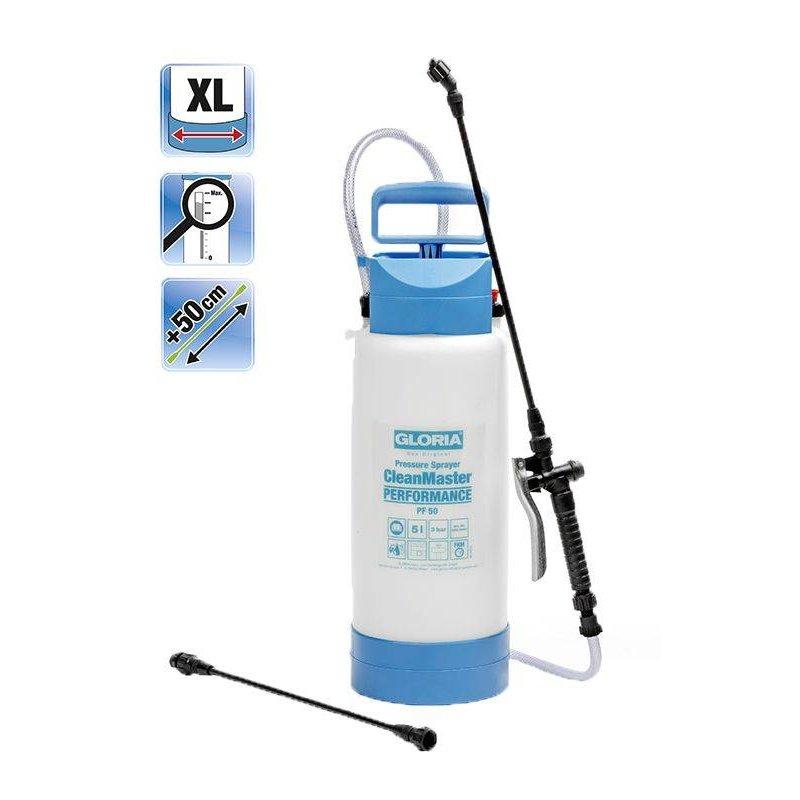 Gloria drukspuit CleanMaster Performance PF 50 Viton® (5 liter)