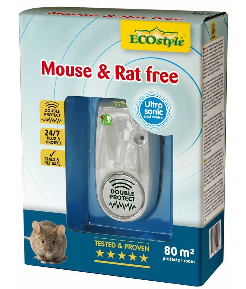 Ecostyle Mouse & Rat free X-tra (tot 80 m²)