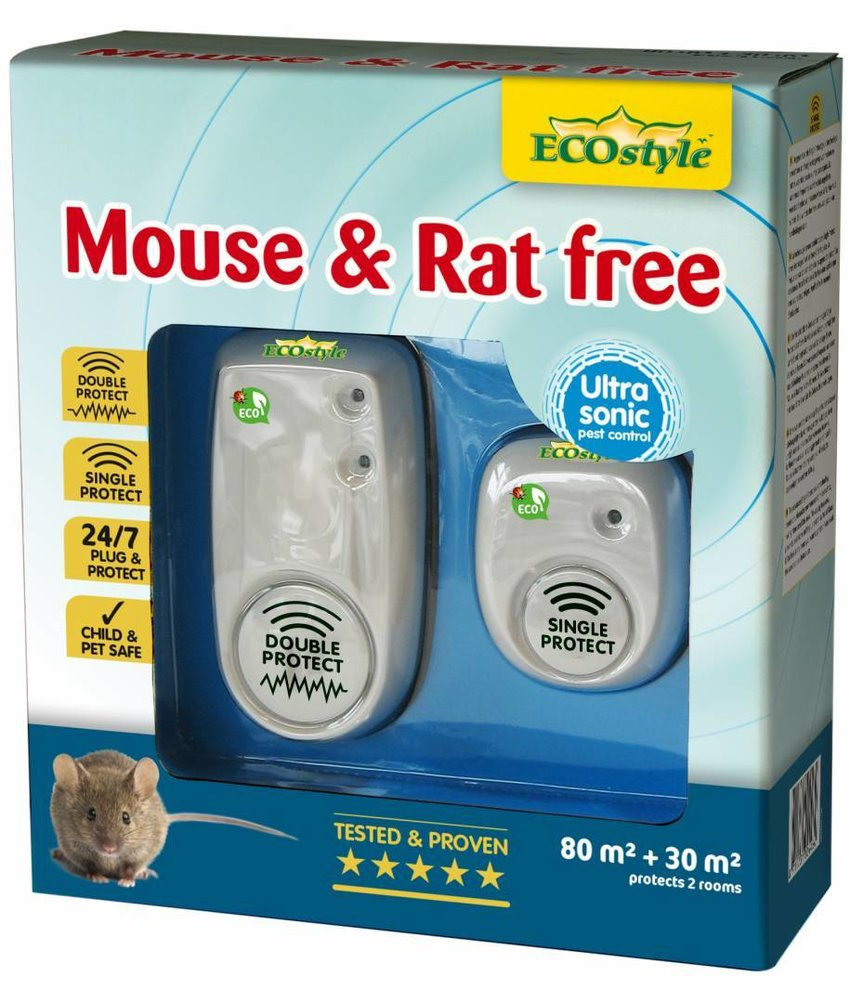 Ecostyle Mouse & Rat free 80+30 m² (duopack)