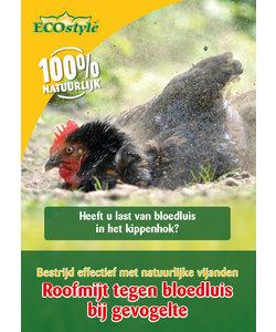 Roofmijt tegen bloedluis bij gevogelte