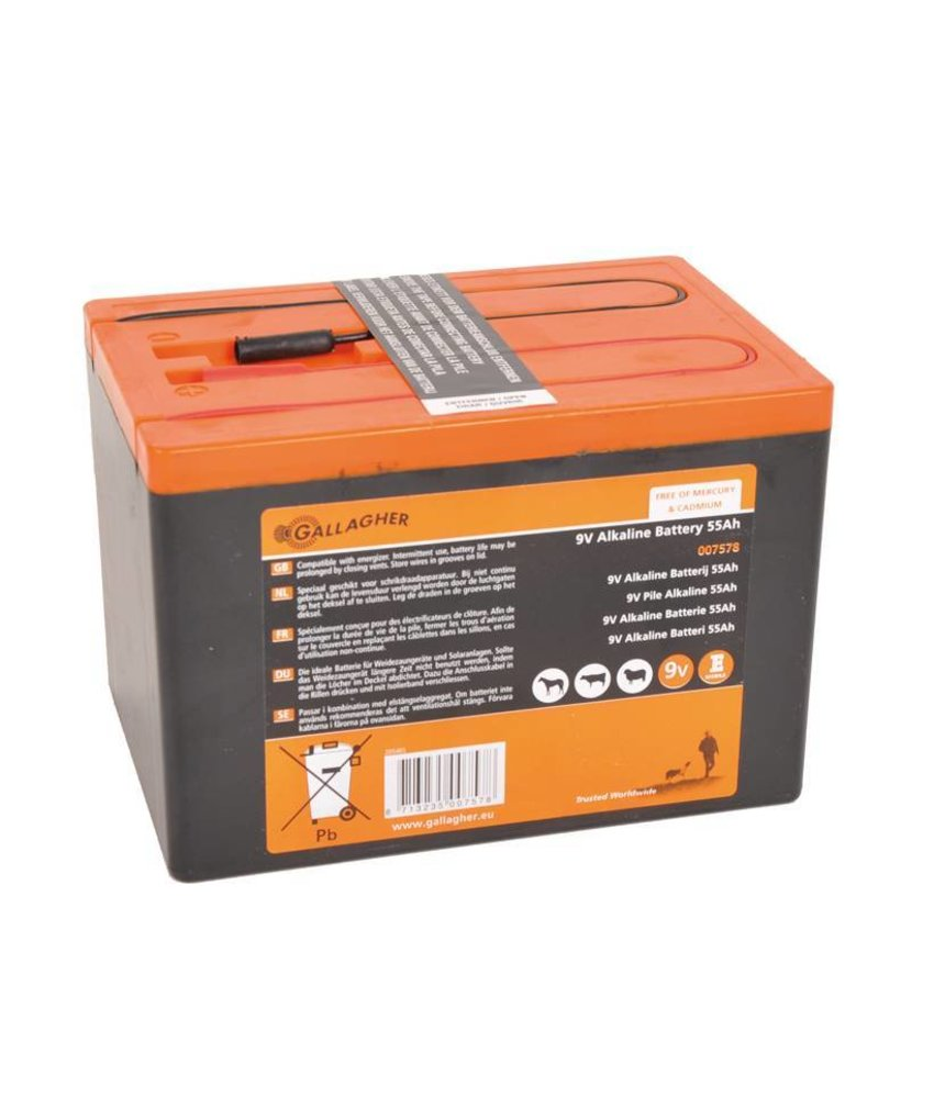 Gallagher Powerpack batterij 9V/55Ah