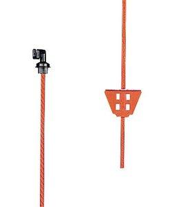Veerstalen paal oranje 1,00 m