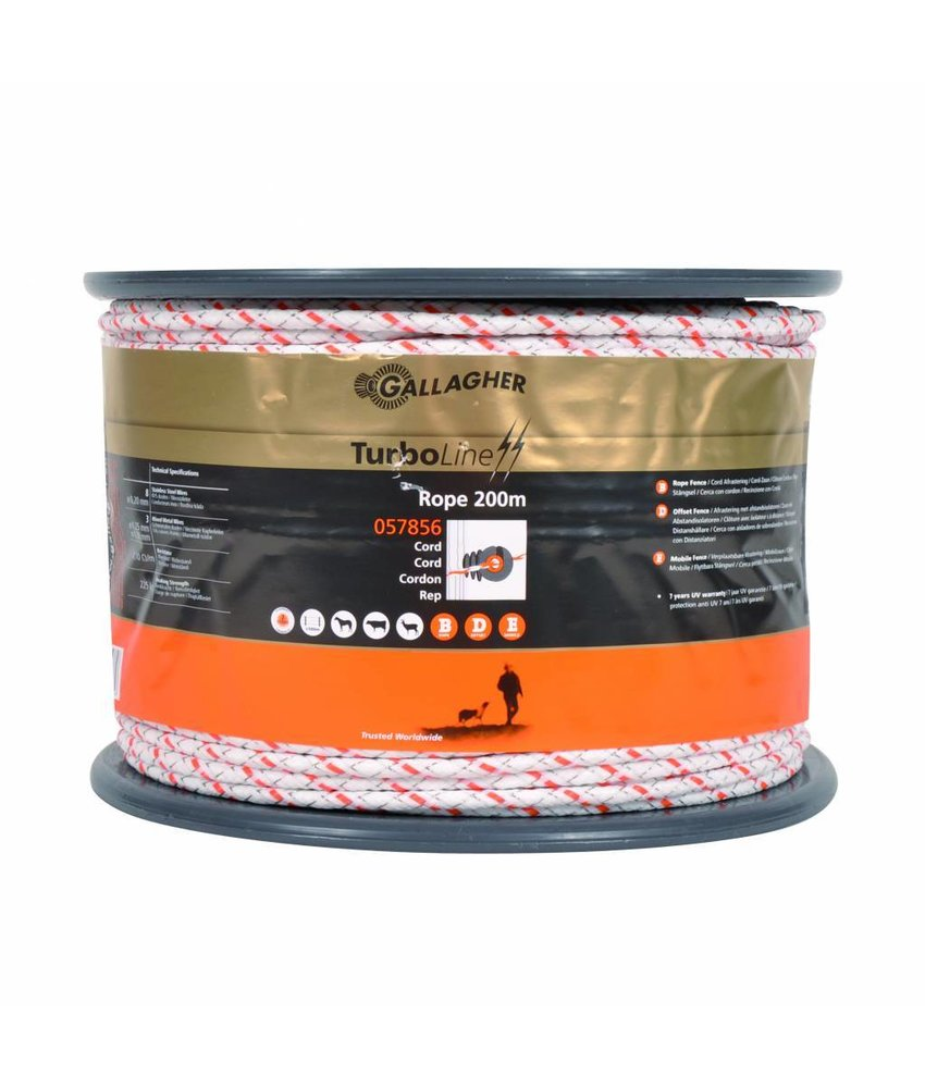 Gallagher TurboLine cord wit 200 m