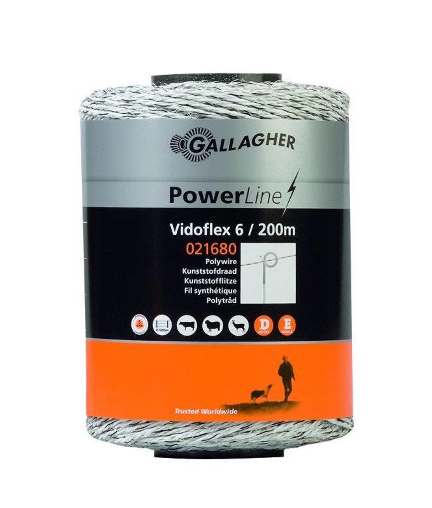Gallagher Vidoflex 6 wit 200 m