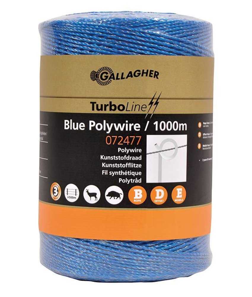 Gallagher Kunststofdraad blauw 1000 m