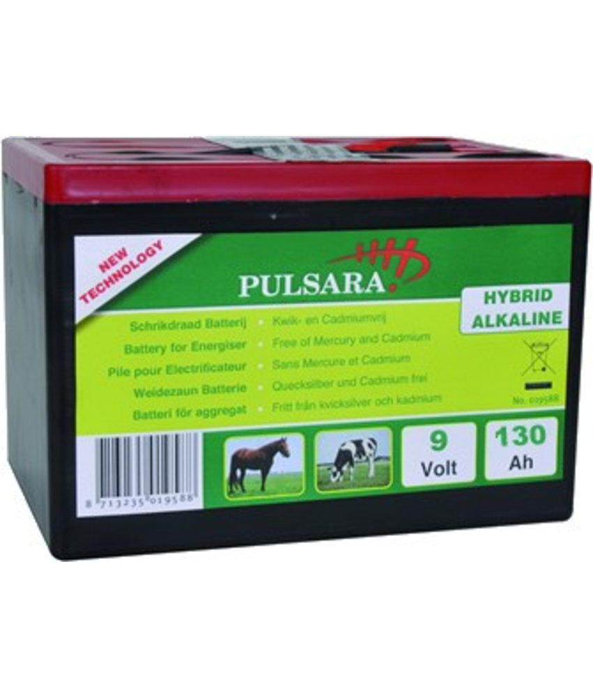 Pulsara Batterij High Energy 9V/130Ah