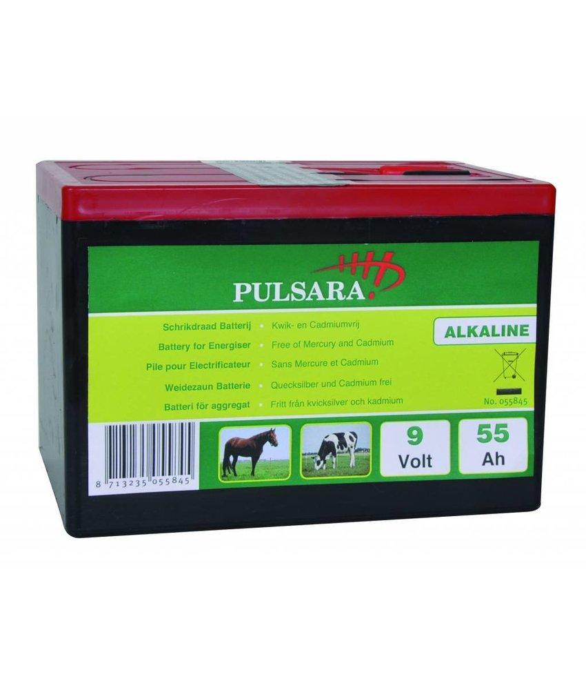 Pulsara Alkaline batterij 9V/55Ah compact