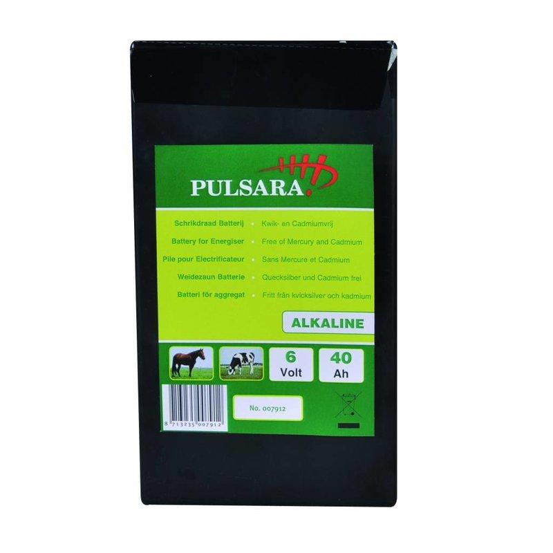 Pulsara Alkaline batterij 6V/40Ah