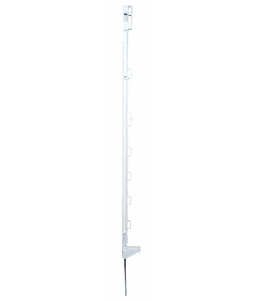 Pulsara Kunststofpaal wit 1.05 m enkele voet 10 st
