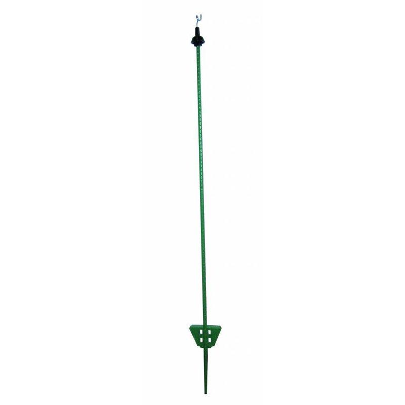 Pulsara Veerstalen paal 1.05 m groen met krulisolator 10 st