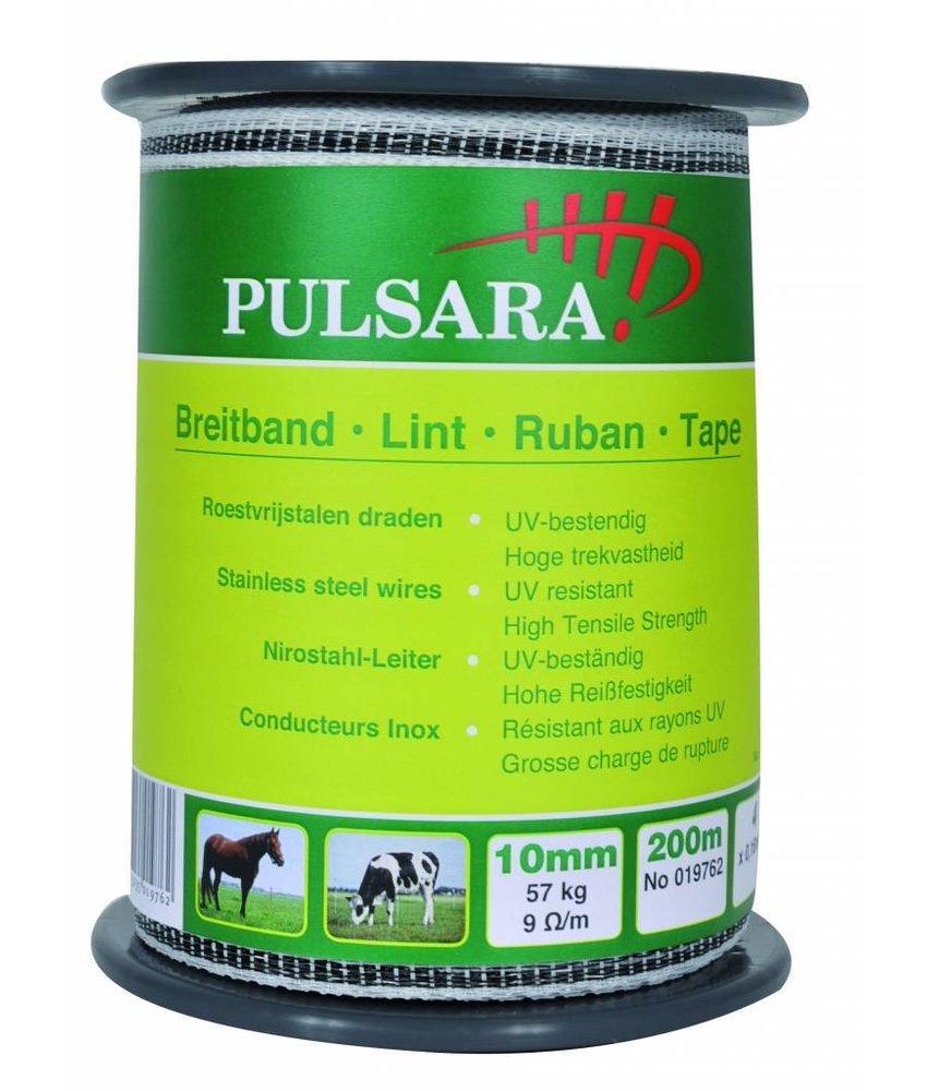 Pulsara Lint wit 10 mm 200 m 2 RVS draden + 1 koperdraad