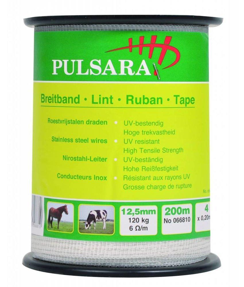 Pulsara Lint wit 12.5 mm 200 m 4 RVS draden