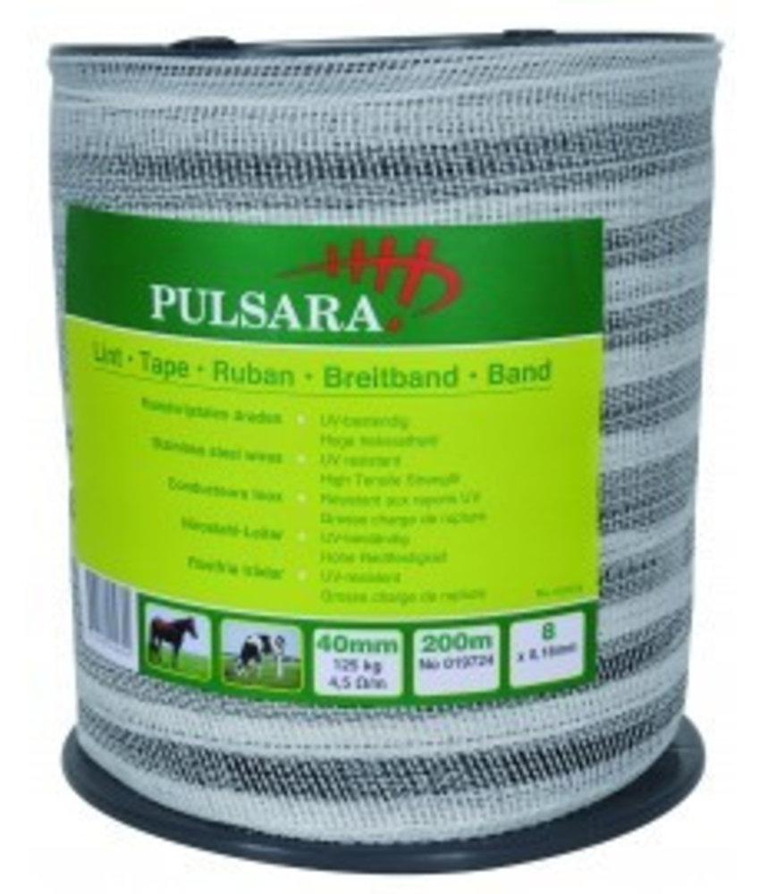 Pulsara Lint wit 40 mm 200 m 8 RVS draden
