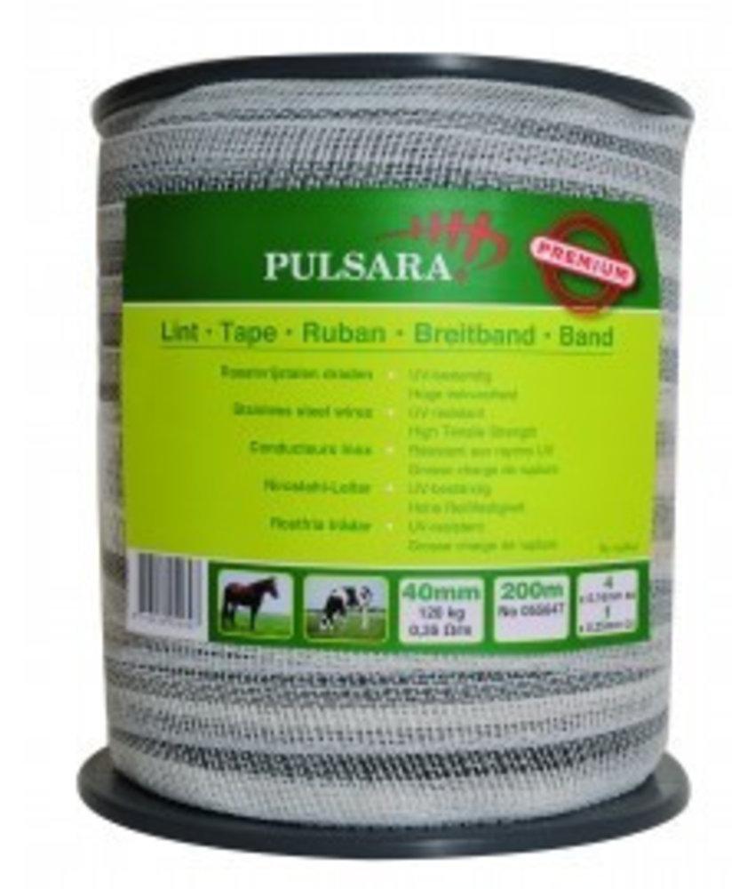 Pulsara Lint wit 40 mm 200 m 4 RVS draden + 1 koperdraad