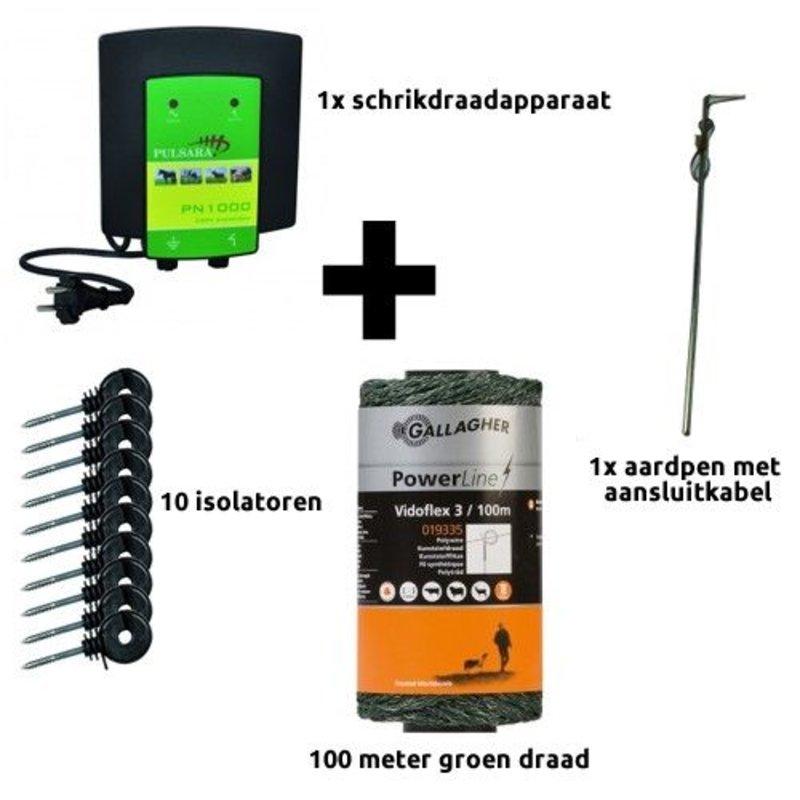 Schrikdraad.com Schutting en volière startkit