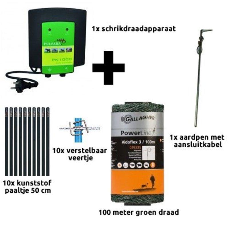 Schrikdraad.com Tuin en vijver startkit