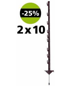 Vario paal 1 meter terra (2x10 stuks)