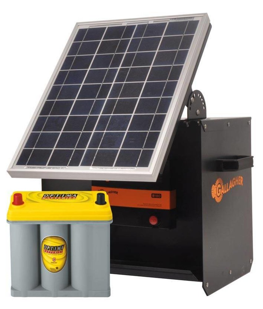 Gallagher S180 Kit Solarbox + B180+ 20W+ Optima 2,7l