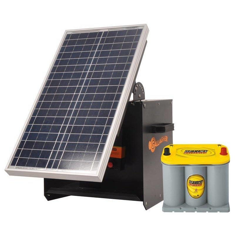 Gallagher S280 Kit Solarbox + B280+ 30W solarpaneel+ Optima 3,7l