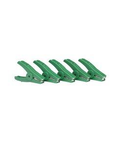 Krokodillenklem groen (5 stuks)