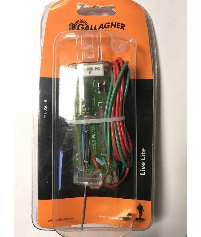Gallagher Afrasteringscontrole lampje Live Lite