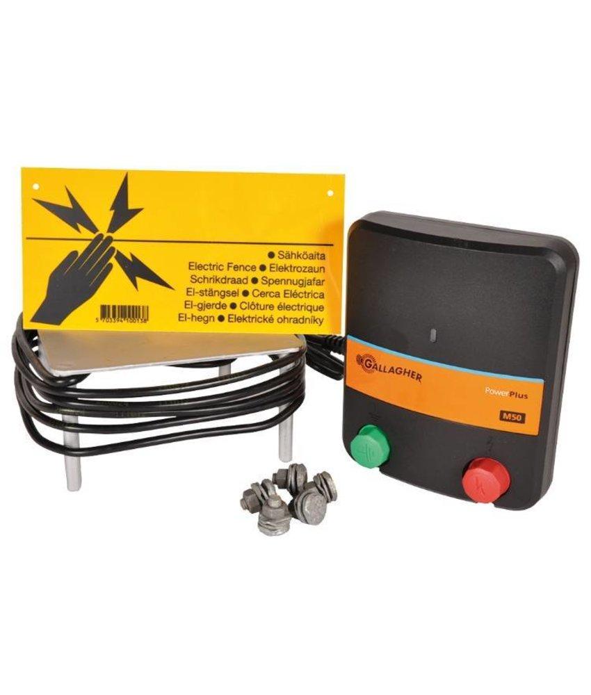 Gallagher M50 Starter kit (schrikdraadapparaat + accesoires)