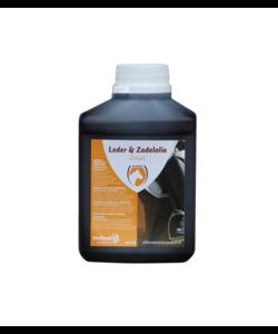 leder & zadelolie zwart met lanoline 500 ml