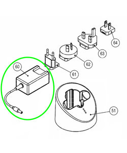 Adapter incl. kabel Xplorer oplader