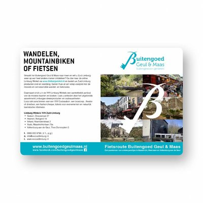 Visit Zuid-Limburg Fietskaart Buitengoed Geul & Maas