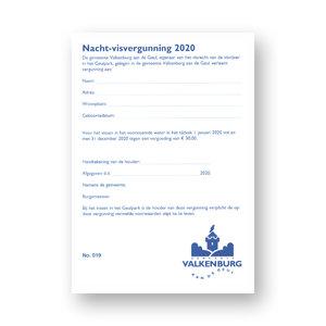 Gem. Valkenburg a/d Geul Nacht Visvergunning 2021 Valkenburg