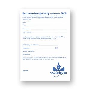 Seizoen Visvergunning Volwassenen Valkenburg 2020