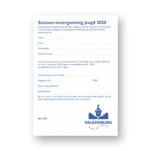 Gem. Valkenburg a/d Geul Seizoen 2021 Visvergunning Jeugd Valkenburg