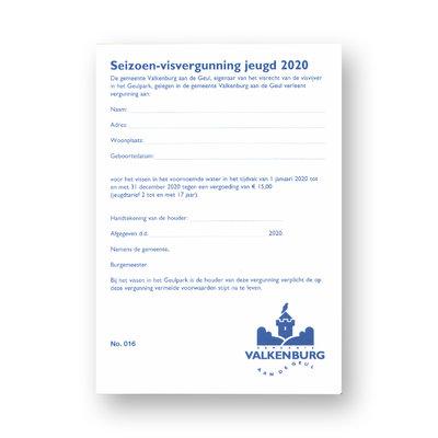 Seizoen Visvergunning 2020 Jeugd Geulpark Valkenburg