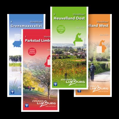Visit Zuid-Limburg Combideal: 4 wandelkaarten voor heel Zuid-Limburg