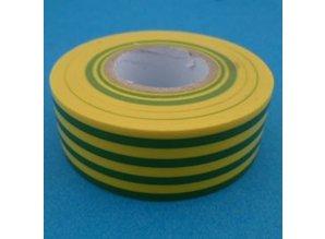 PVC tape 25mm geel/groen